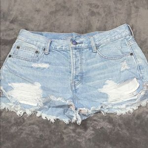 WORN ONCE American Eagle distressed jean shorts